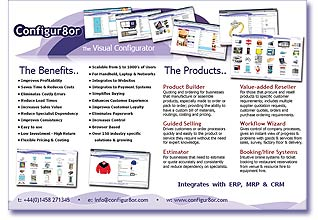 Thumbnail view of the Configur8or flyer, that explains the perfect software solution for configuring your companies entire product & services.
